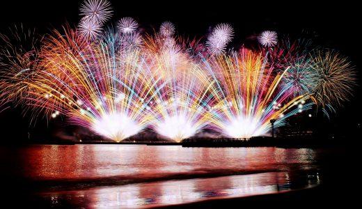 敦賀花火大会2018の日程、駐車場、シャトルバス、屋台、場所取りは?