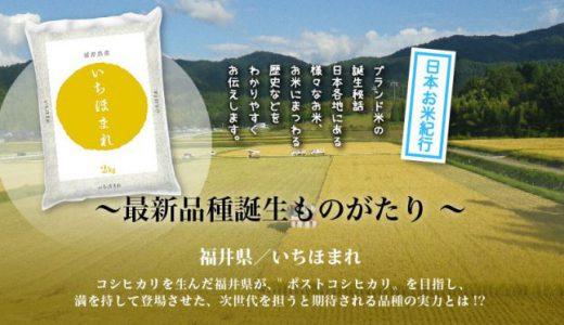 いちほまれ(福井の米)の特徴,炊き方,評判,販売価格,店舗,通販購入まとめ